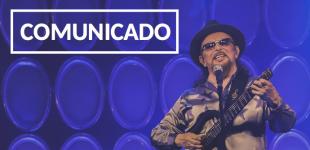 Shows cancelados: Florianópolis, Joinville e Curitiba